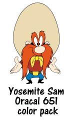 Yosemite Sam Oracal 651 color pack