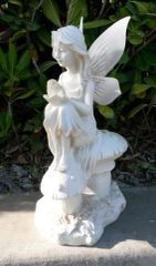 Solar Powered Angel & Bird Statue Solar LED Bird Light with Frosted Wings- GREAT GIFT!!!