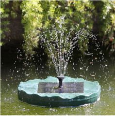 Solar Powered Floating Lily Fountain