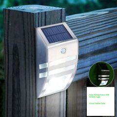 2-Pack Solar Powered Motion Sensor PIR Security LED Lights