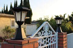 2-Pack Solar Black Aluminum Die-Cast Hexagon LED Entrance Post Lights - New Arrival!