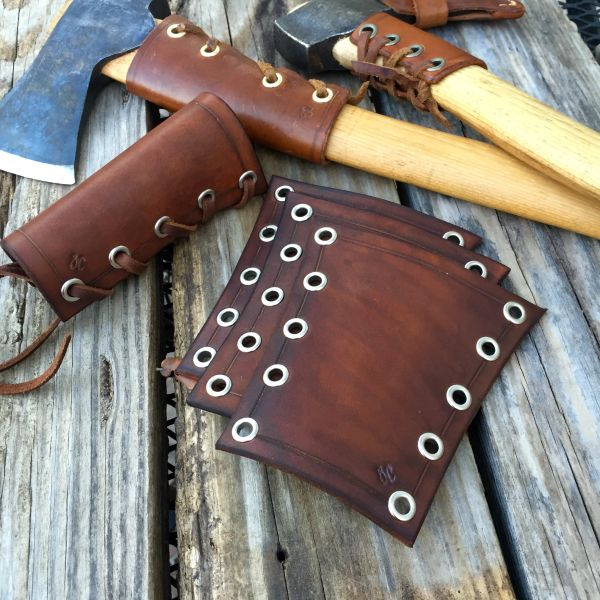 Leather Axe Collar Badger Claw Leatherworks