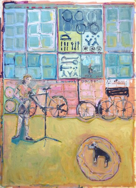 1712-01v la Cycliste Enceinte | JK Thorsen Oil Painting