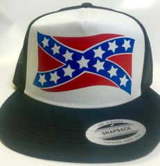 BIG WAVE STANDARD VINYL REBEL FLAG TRUCKER HAT