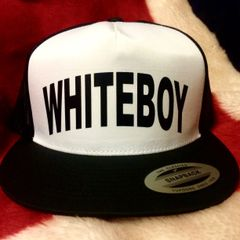 WHITEBOY STANDARD BLACK VINYL REBEL TRUCKER HAT