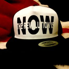 THE REVOLUTION IS NOW STANDARD BLACK VINYL REBEL TRUCKER HAT