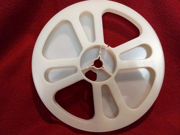 TayloReel Super 8mm 400 ft. White Plastic Movie Reel (New Design for Better Balance)