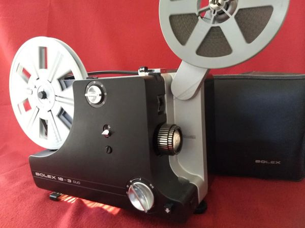 BOLEX 18-3 Duo - Dual 8mm Silent Projector (Like New - Completely Restored with Bolex Case!)