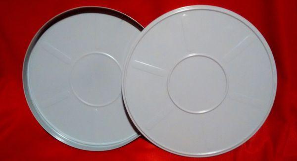 Goldberg 16mm 1600 ft. Steel Grey Metal Film Can