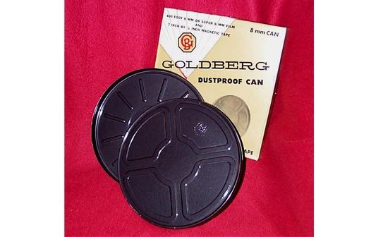 Goldberg Regular 8mm/Super 8mm 400 ft. Metal Film Can