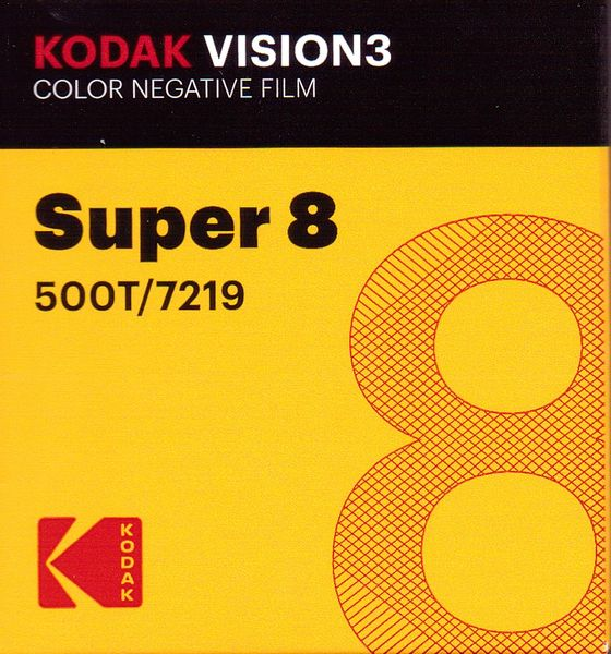 Kodak Vision3 500T Color Negative Film Super 8mm 50 ft. Cartridge