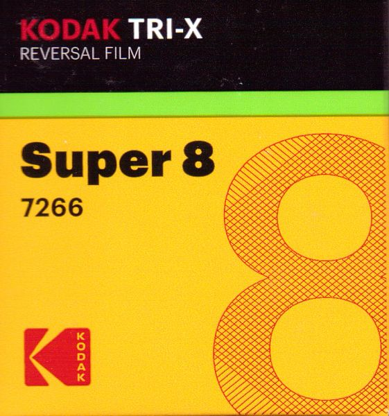 Kodak Tri-X Black & White Reversal Film Super 8mm 50 ft. Cartridge