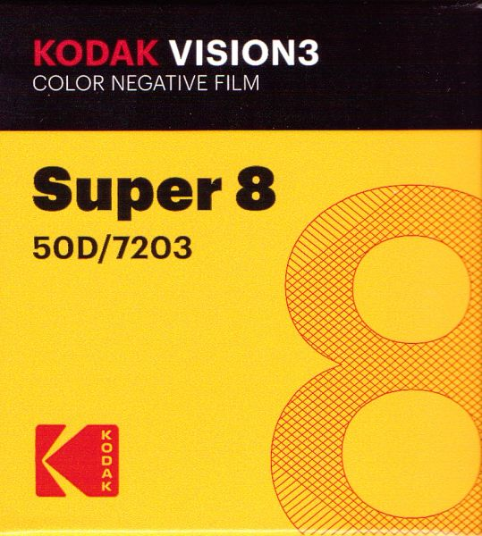 Kodak Vision3 50D Color Negative Film Super 8mm 50 ft. Cartridge