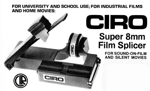 Instruction Manual: CIRO Super 8mm Film Splicer