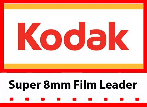 Kodak 'New Generation' White Acetate Movie Leader - Super 8mm 50ft.