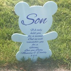 Teddy Bear Memorial Marker (Choice of Colours)