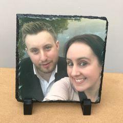 Square Printed Photo Slate