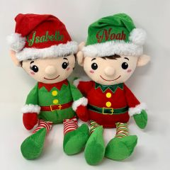"Personalised 16"" Plush Elf (four designs to choose from)"