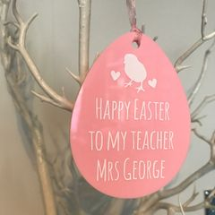 Easter Egg Teacher Ornament (Choice of Colours)