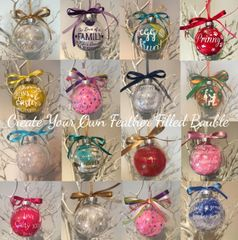 Create Your Own Feather Bauble