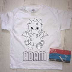 Personalised Dragon Colouring T'Shirt