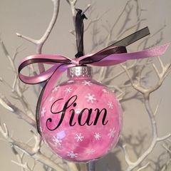Name on a Bauble (Feather)