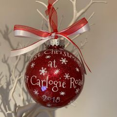 1st Christmas At (address) Bauble