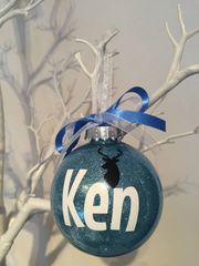 Stag Themed Christmas Bauble