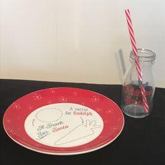 Christmas Eve Plate & Glass Set
