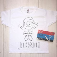 Personalised Santa Colouring T'Shirt