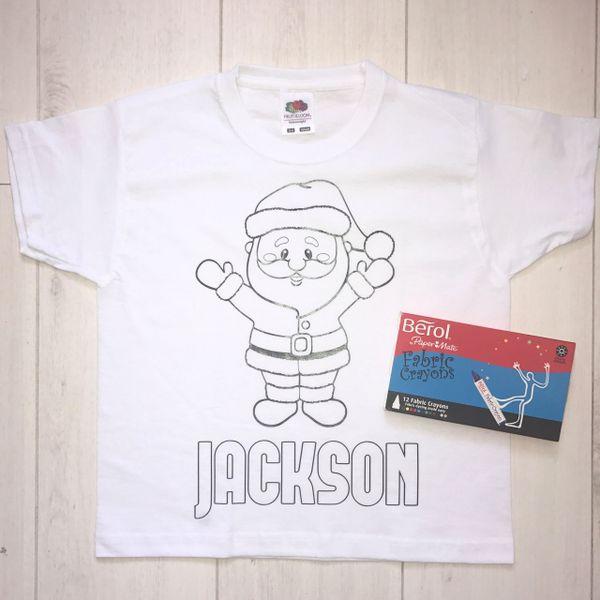 Personalised Santa Colouring T'Shirt