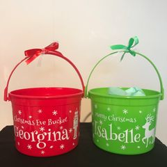 Christmas Eve Bucket (Choice of Designs)