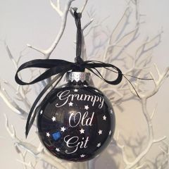 """Grumpy Old Git"" Bauble"