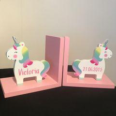 Set of 2 Unicorn Bookends