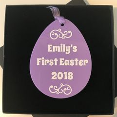 Baby's First Easter Ornament (Choice of Colours)