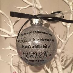 Heaven Verse Bauble (No personalisation)