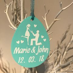 Easter Egg Engagement Ornament (Choice of Colours)