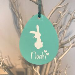 Personalised Egg Ornament (Choice of Colours)