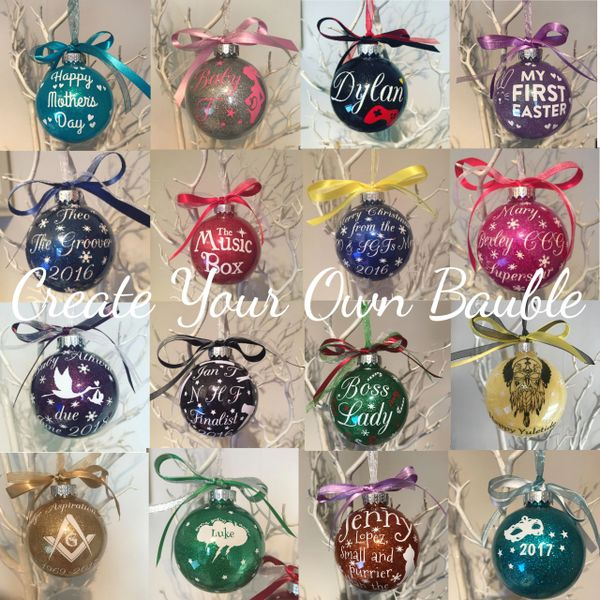 Create Your Own Glitter Bauble