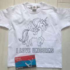 Personalised Unicorn Colouring T'Shirt