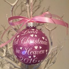 Personalised 1st Christmas in Heaven