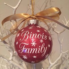 Surname Bauble Design 2