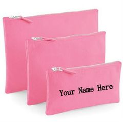 Personalised Accessory Pouch (Choice of colour & Size)