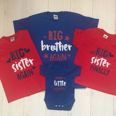 Big Brother/Sister Tshirt (Choice of Colours)