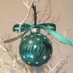 Dog Themed Personalised Christmas Bauble