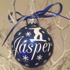 Snowboarding Themed Bauble