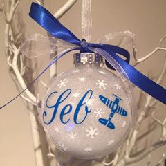 Aeroplane Themed Bauble