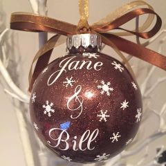 Couple Names Bauble