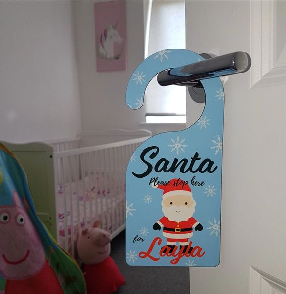 Personalised Christmas Door Hanger (Choice of Designs)