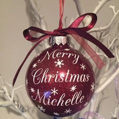 "Merry Christmas ""Name"" Bauble"